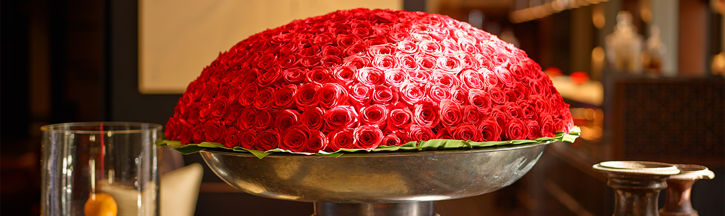 The Setai Lobby Red roses