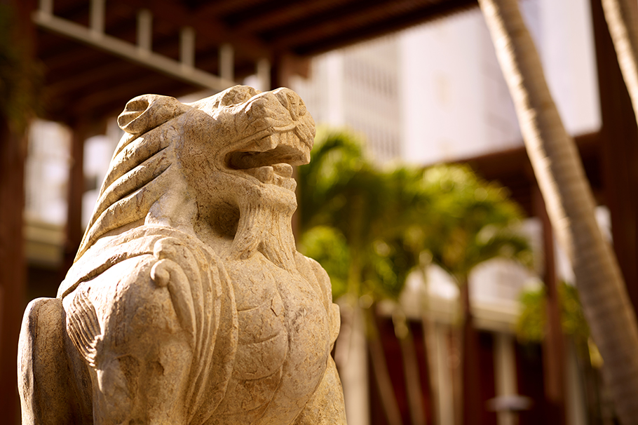 The Setai COurtyard Chinese Sculpture Lion